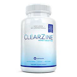 One (1) bottle of Clearzine Acne Solution