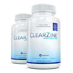 Two (2) bottles of Clearzine Acne Solution