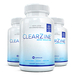 Three (3) bottles of Clearzine Acne Solution
