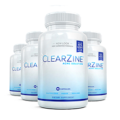 Four (4) bottles of Clearzine Acne Solution